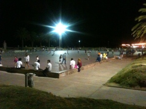 Outdoor skating rink in Uruguay